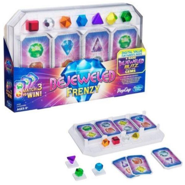 Hasbro Gaming Bejeweled Frenzy Card Game age 8+ Years